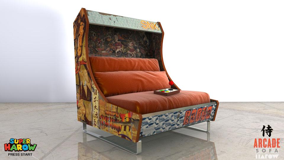 Custom Arcade Sofa by Harow