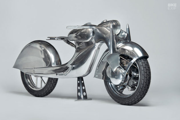 Custom Front-Wheel Drive Motorcycle