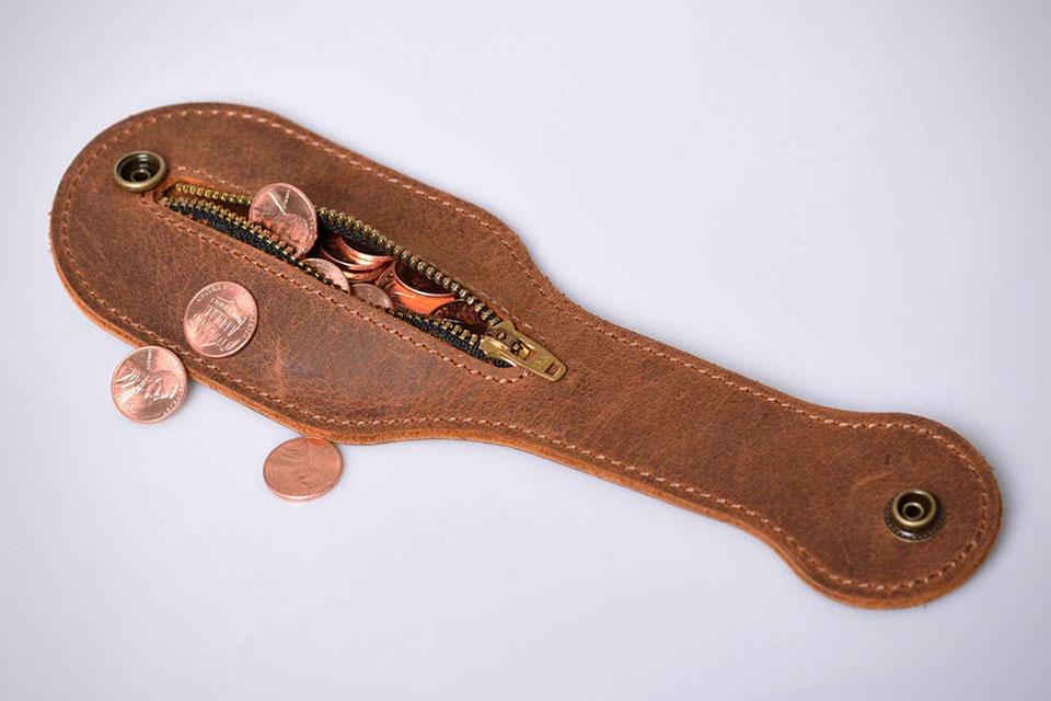 EASYANT Mini Crazy Horse Leather Coin Purse Outdoor Men Wallets EDC Multi-Tool