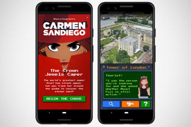 Find Carmen Sandiego on Google Earth