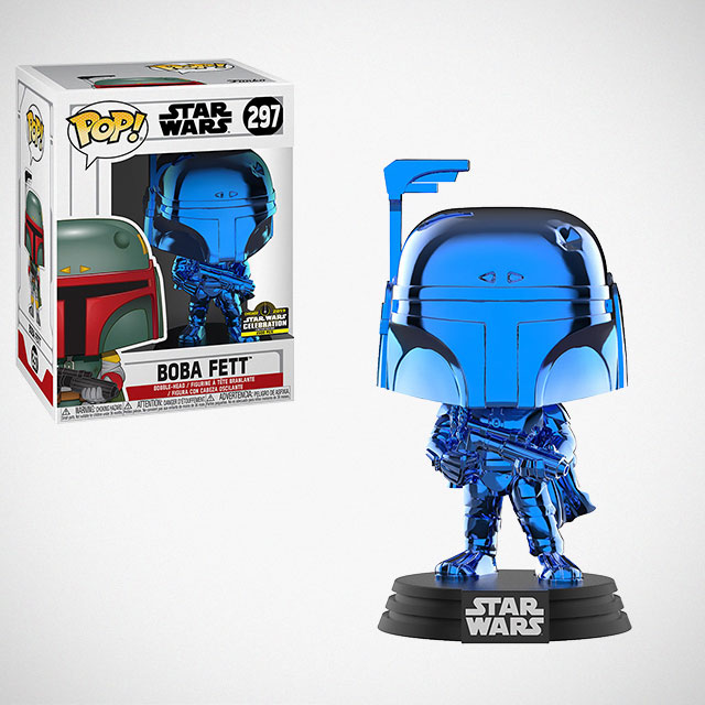 Funko POP! Chrome Blue Boba Fett Figure
