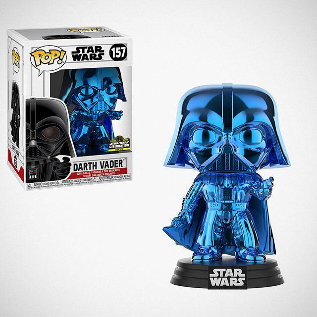 Funko POP! Chrome Blue Darth Vader Figure