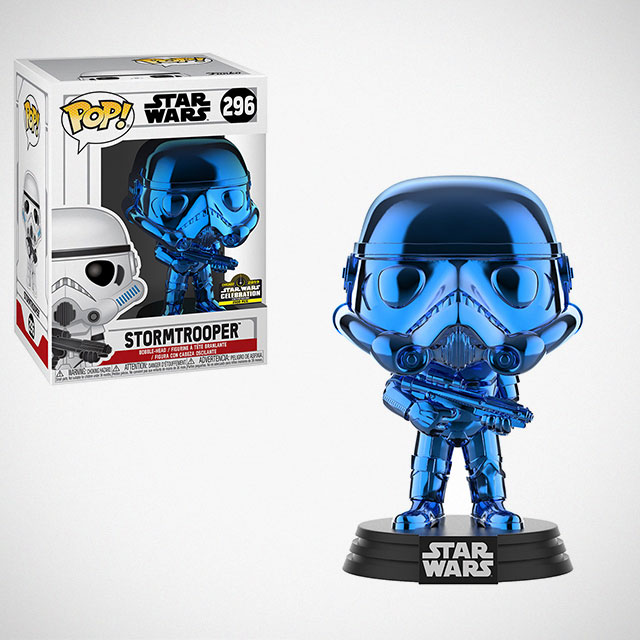 Funko POP! Chrome Blue Stormtrooper Figure