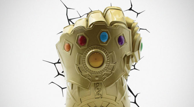 Infinity Gauntlet Found Itself Another Use, Now As A 3D Wall Lamp