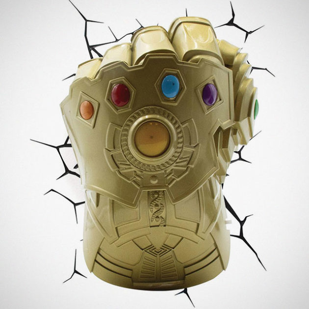 Infinity Gauntlet 3D Wall Light
