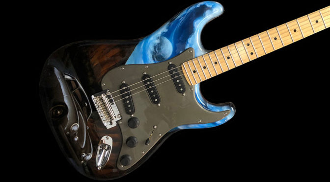 check out john oates custom light emitting fender electric guitar shouts. Black Bedroom Furniture Sets. Home Design Ideas
