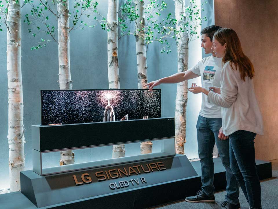 LG Rollable LED TV at SXSW 2019