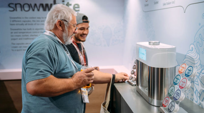 LG Snowwhite Ice Cream Maker at SXSW 2019