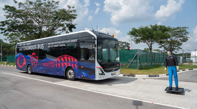 World's First Full-size Self-driving Electric Bus Goes On Trial In Singapore