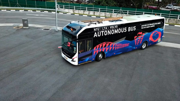 NTU x Volvo Buses Autonomous Electric Bus
