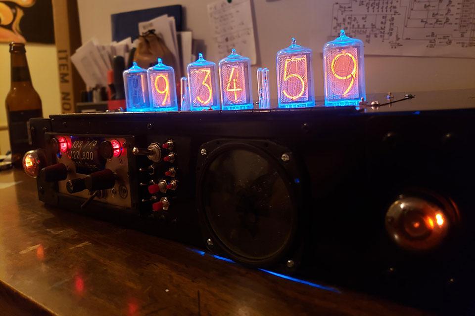Someone DIY-ed A Freaking Cool Nixie Tube Clock Bluetooth