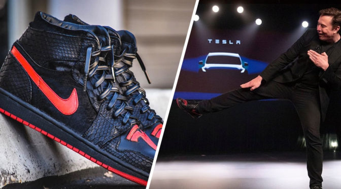 Tesla Jordan 1 Sneakers For Elon Musk