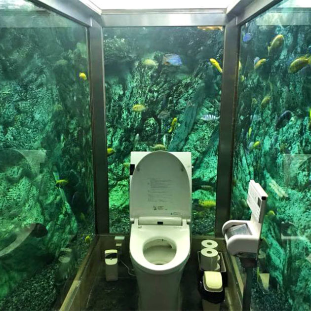 Aquarium Bathroom at HiPoPo PaPa