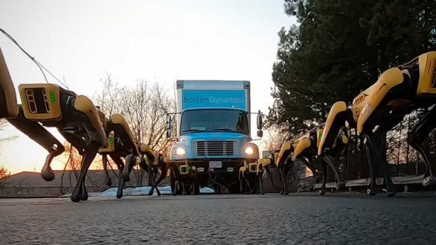 Boston Dynamics SpotMinis Haul A Truck