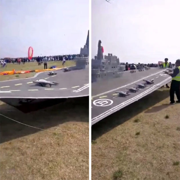 Chinese Aircraft Carrier Kite at Kite Festival