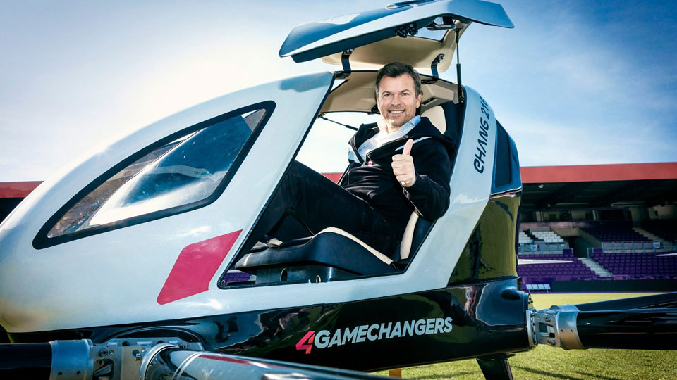 Ehang 216 Autonomous Aerial Vehicle in Vienna