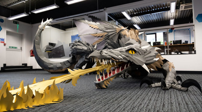 Company Surprises Staff With <em>Game Of Thrones</em> Paper Dragon Sculpture