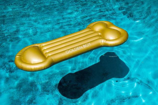 Gold Bae Golden Boy Pool Float