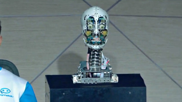 Humanoid Robot TV News Anchor Russia-24