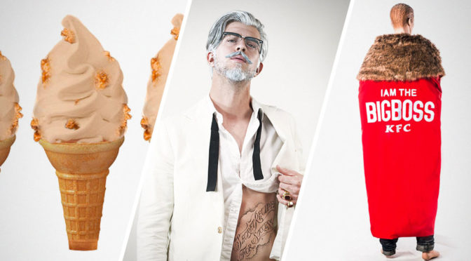 KFC New 'Colonel', Fried Chicken-Flavored Ice Cream And Boss Cape