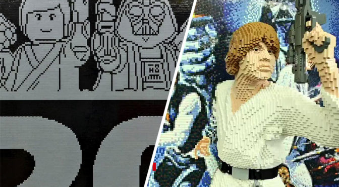 LEGO Star Wars A New Hope Poster Sculpture
