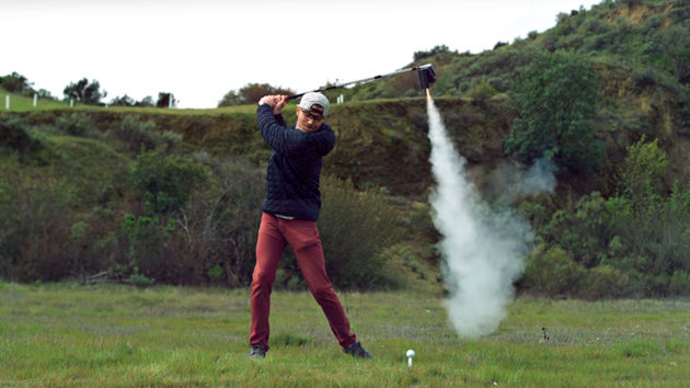Mark Rober Rocket-powered Golf Club