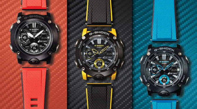 New CASIO G-Shock G-Carbon Series