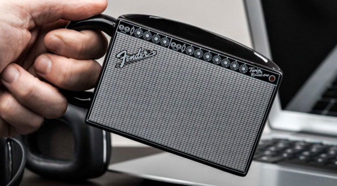 Fender Amp Mug Has A Clever Design That Makes Straight Edge Mug Usable