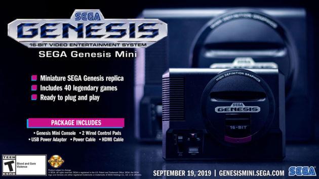 Sega Genesis Mini Video Game Console