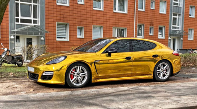 Gold Foil Wrapped Porsche Impounded For Being Too Shiny
