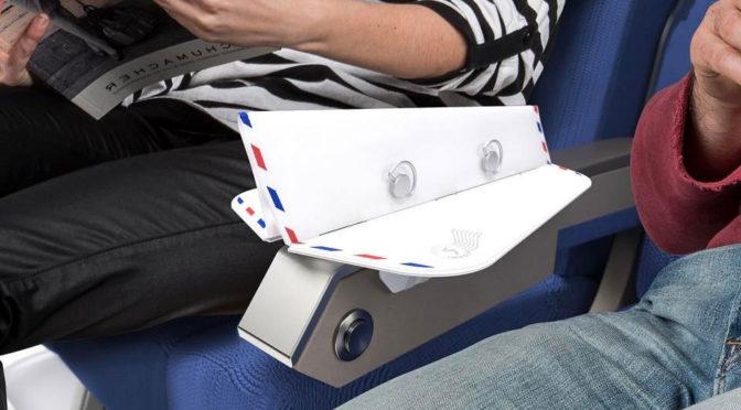 Put An End To Airplane Armrest War With Soarigami Armrest Divider