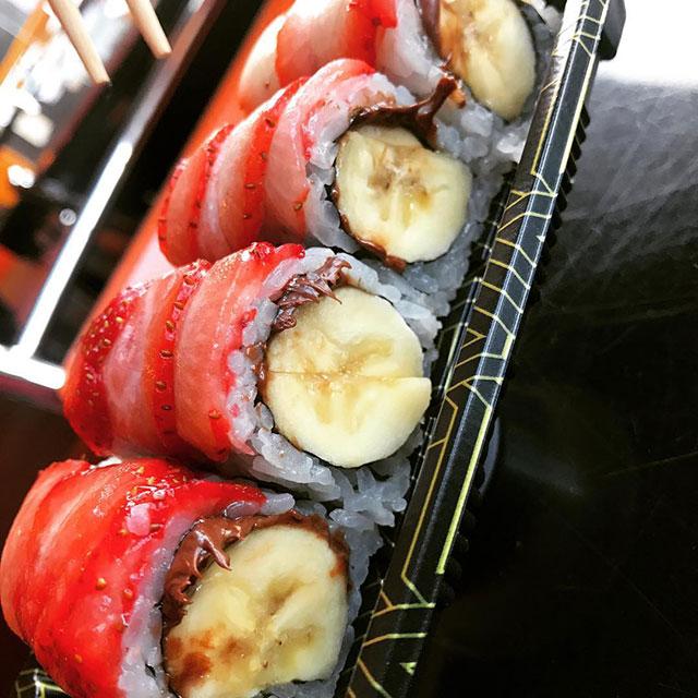 Sushi Sushi NYC Banana Nutella Strawberry Roll
