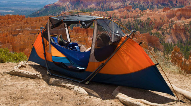 Best Of Many Worlds: A Hammock That Needs No Trees And Is A Tent Too