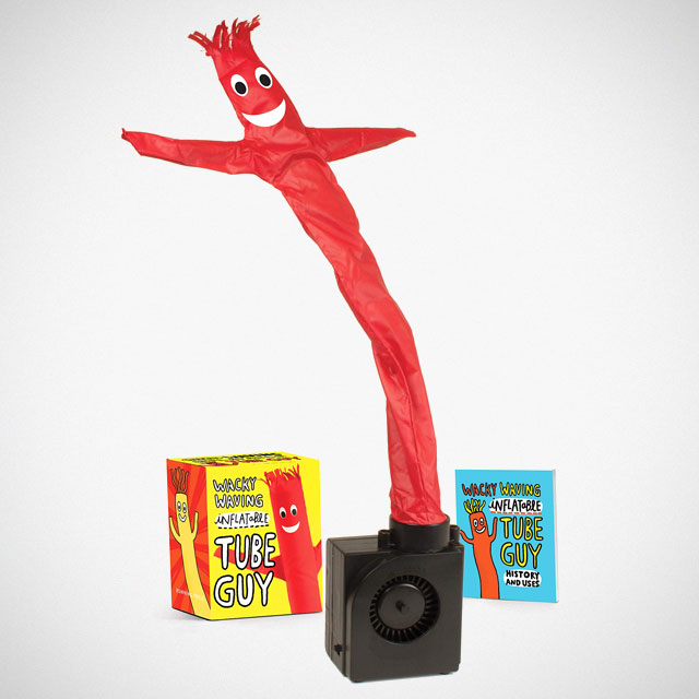 Wacky Waving Inflatable Tube Guy with Book