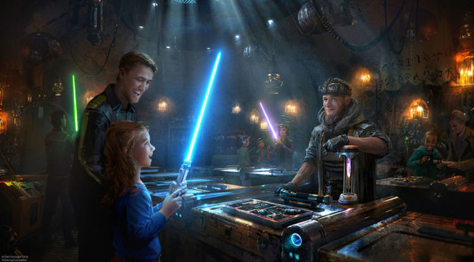 Build Your Own Lightsaber and Droid Disneyland