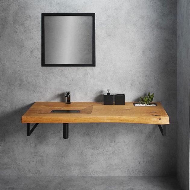 CONE Wooden Wash Basin by Woodbasin