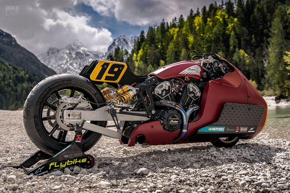 Custom Indian Scout Bobber Drag Bike
