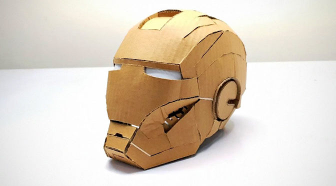 DIY Cardboard Iron Man Helmet by SKM