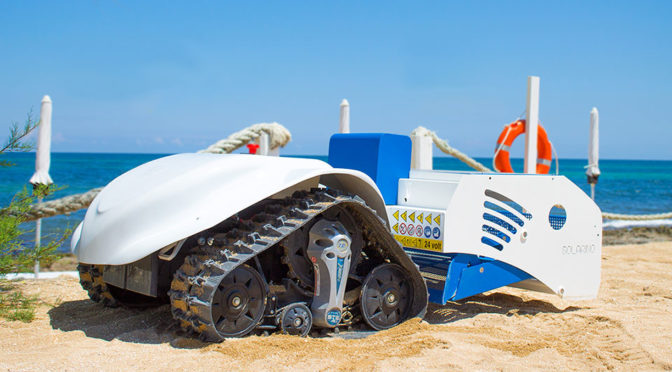 Solarino Is A Remote Control Roomba For Picking Up Trash On The Beach