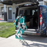 Ford Thinks The Future Of Delivery Is Self-Driving Vehicle And Biped Robot