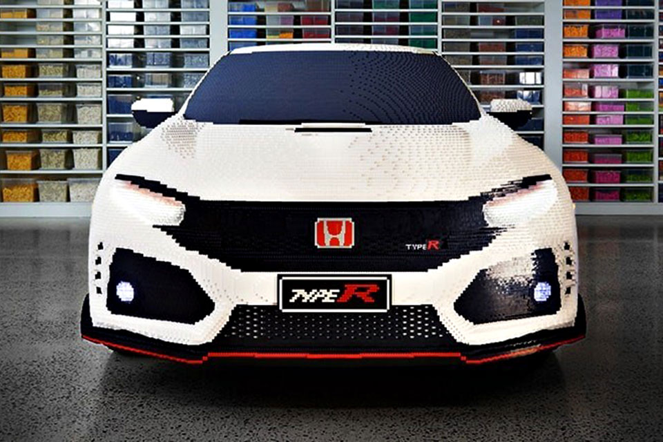 Life-size LEGO Honda Civic Type R