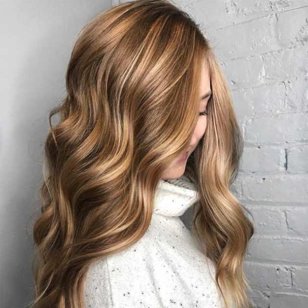 Light Brown Hair Ideas For Women With Curly Hair