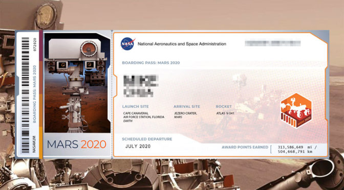 NASA Invites Everyone To Get Their Boarding Pass To Mars