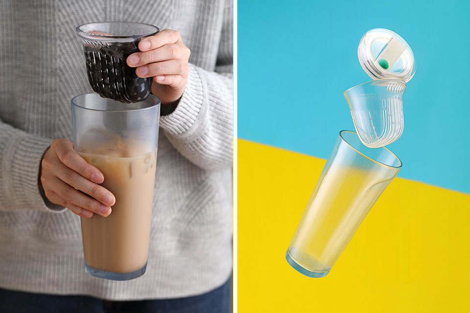 Non-straw Glass Cup for Bubble Tea