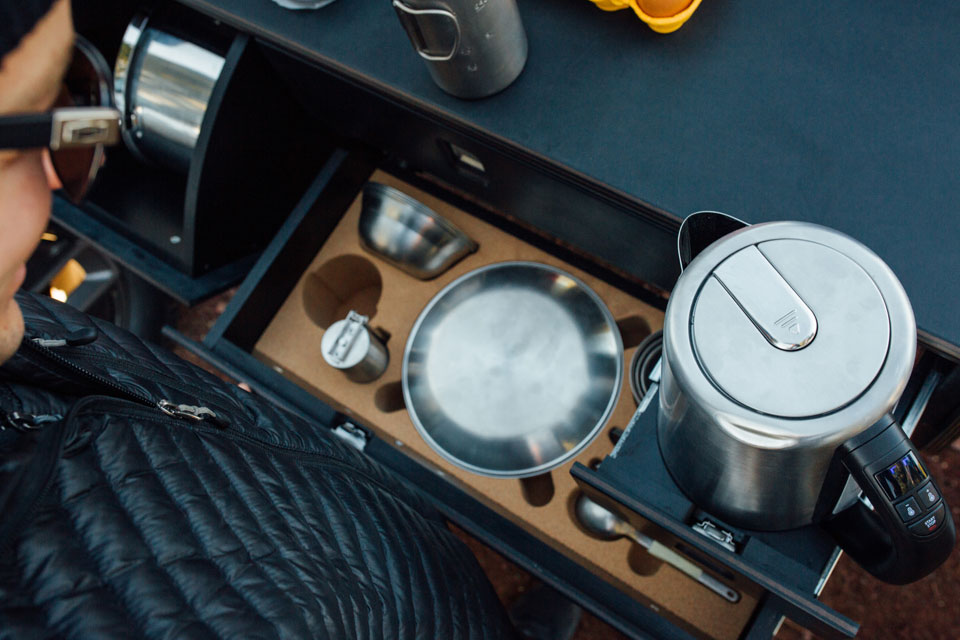 Rivian Electric Pickup Truck Pullout Kitchen