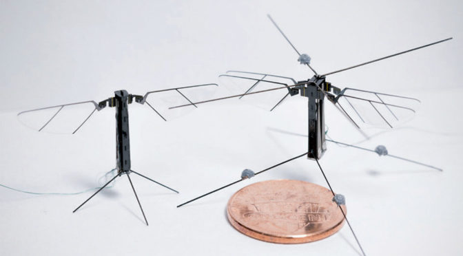 USC-developed 4-Winged Robotic Insect Flies With Innovative Actuators