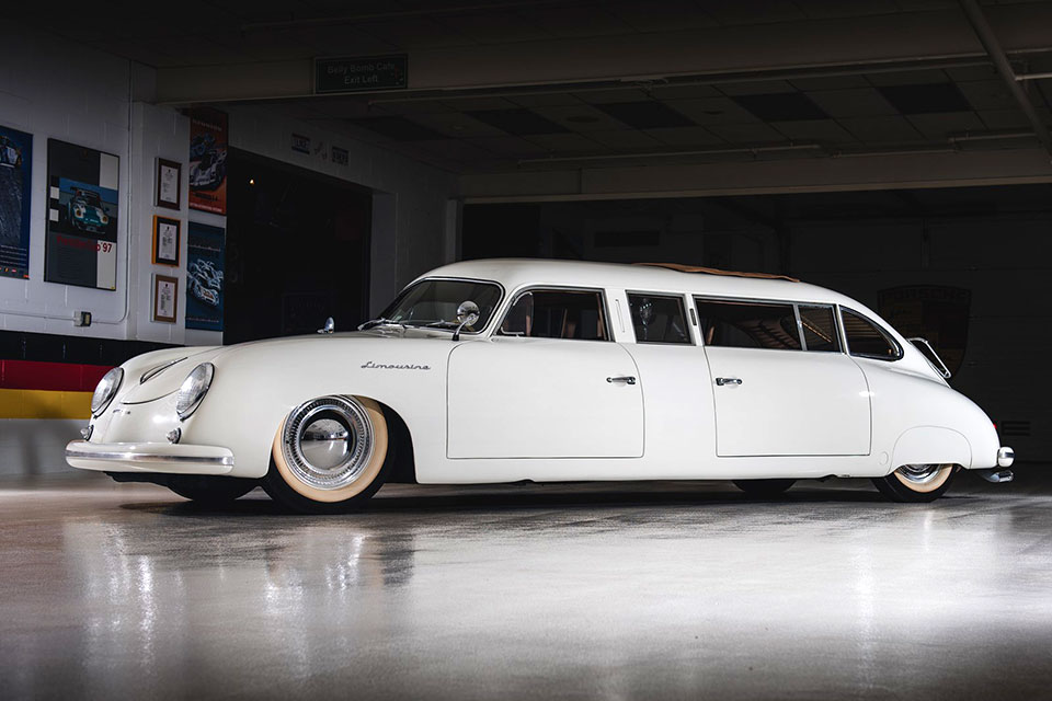 quirky  porsche  limousine custom     block mikeshouts