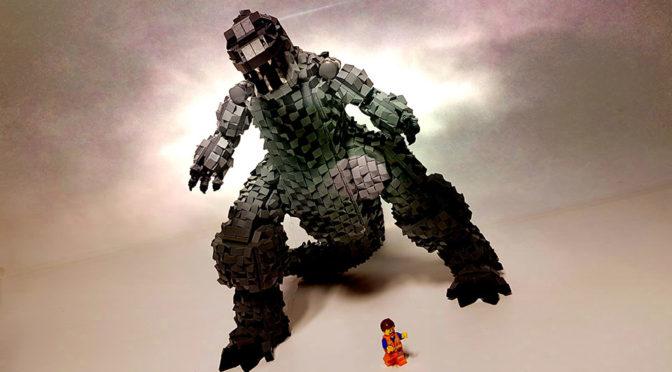4000-piece LEGO MOC Godzilla