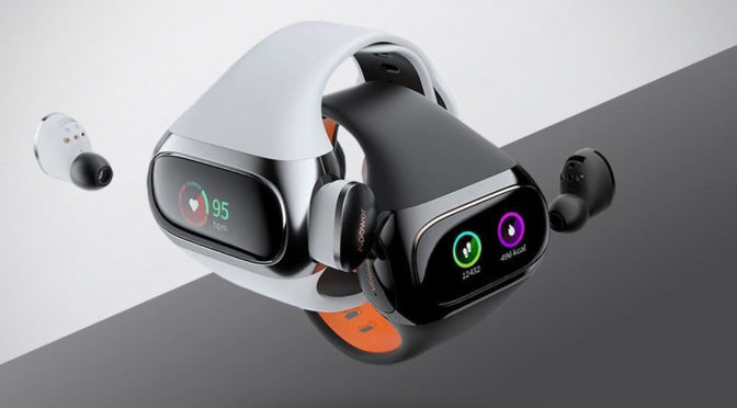 This True Wireless Earbuds' Charging Case Is Also A Fitness Band