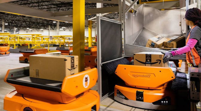 Watch Amazon's New Pegasus Drive Robots Sort Out Packages